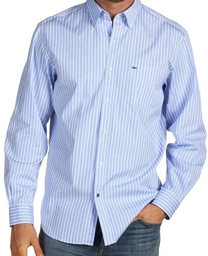 Beyaz-çizgili-lacoste-erkek-gömlek-modeli