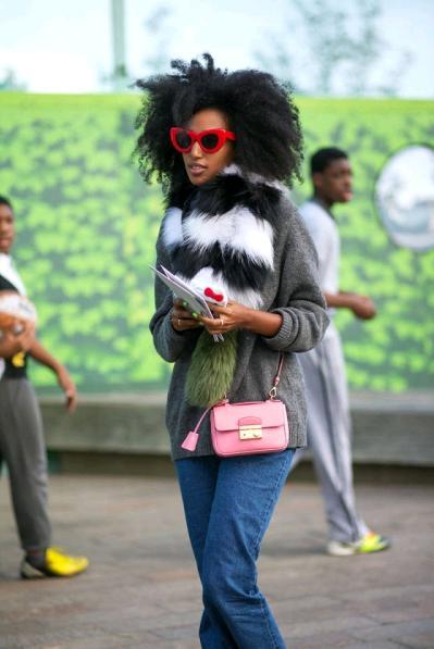 londra moda haftası sokak stilleri