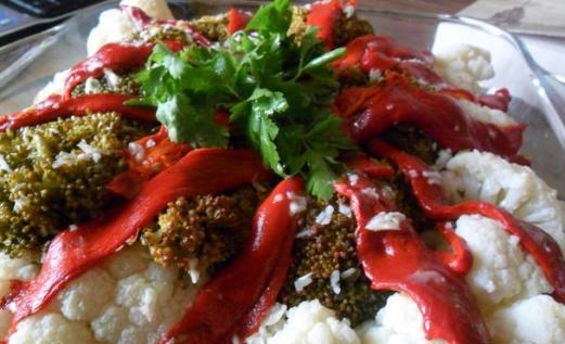 Kırmızı Biberli Karnabahar Salatası