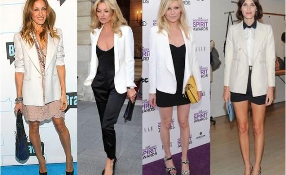 Beyaz Blazer Modelleri