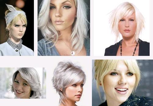 beyaz saç modası 1