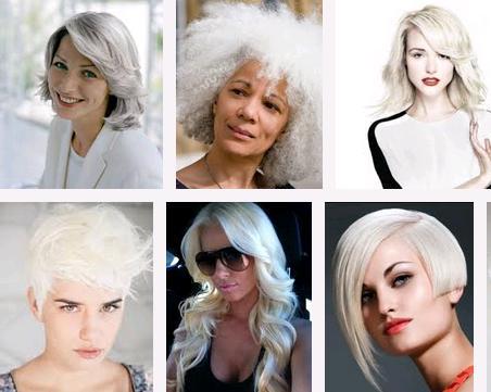 beyaz saç modası 2