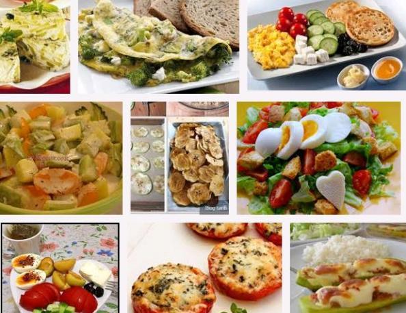 Sabah, öğlen akşam yemek alternatifleri