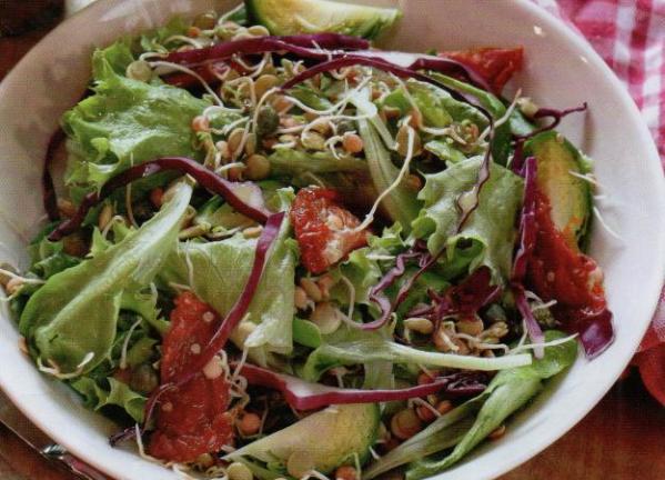 Filizlendirilmiş Mercimek Salatası