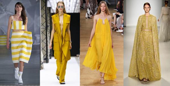 Sarı renk modasına uygun giyinmek