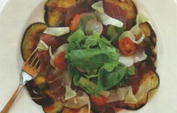 Füme patlıcanlı tuna carpaccio