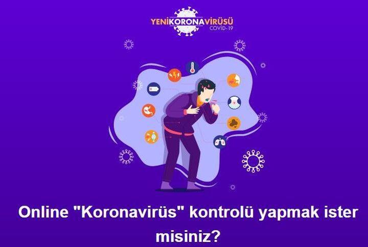 Sağlık Bakanlığı Online koronavirüs testi koronaonlem.saglik.gov.tr sayfası